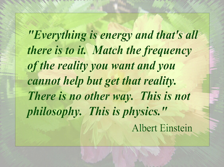 """Everything is energy and that is all there is to it.  Match the frequency of the reality you want and you cannot help but get that reality.  There is no other way.  This is not philosophy.  This is physics'"